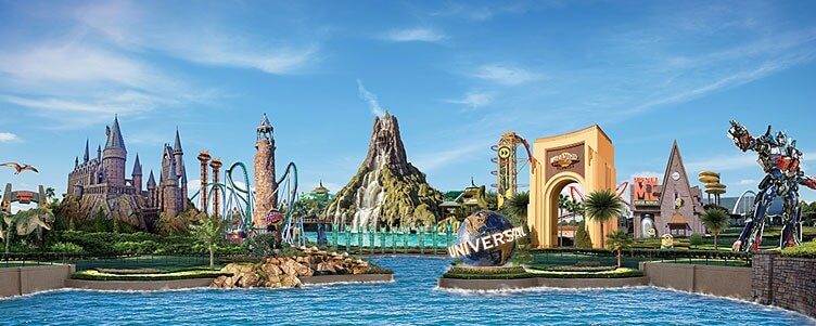 Universal Studios Orlando and Islands of Adventure theme parks!