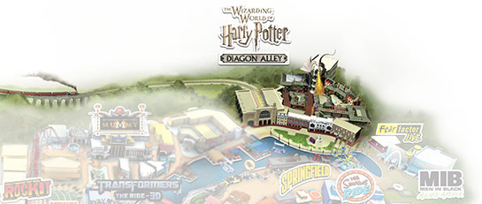 Universal Florida Map.The Wizarding World Of Harry Potter At Universal Orlando Resort